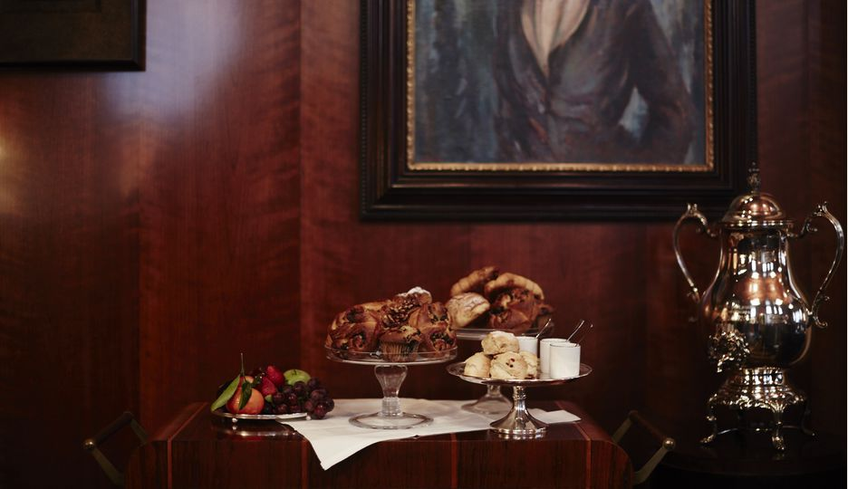 Complimentary pastries and hot beverages served daily in the Cub Room for hotel guests