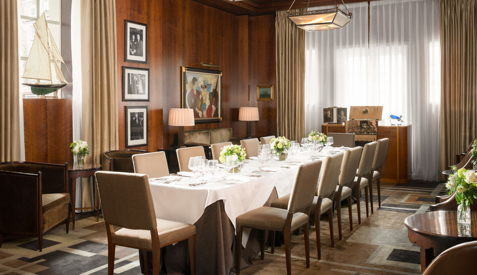 Private Dining in the Cub Room at The Beaumont Hotel, Mayfair