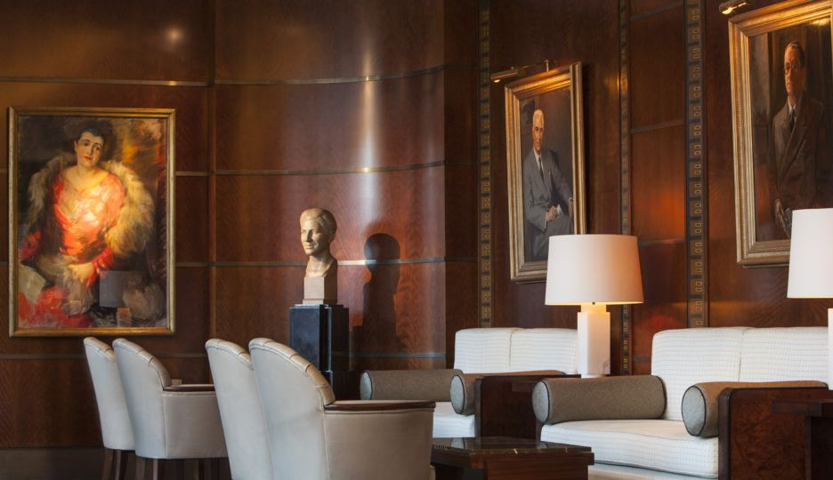 Original art and antiques at The Beaumont Hotel