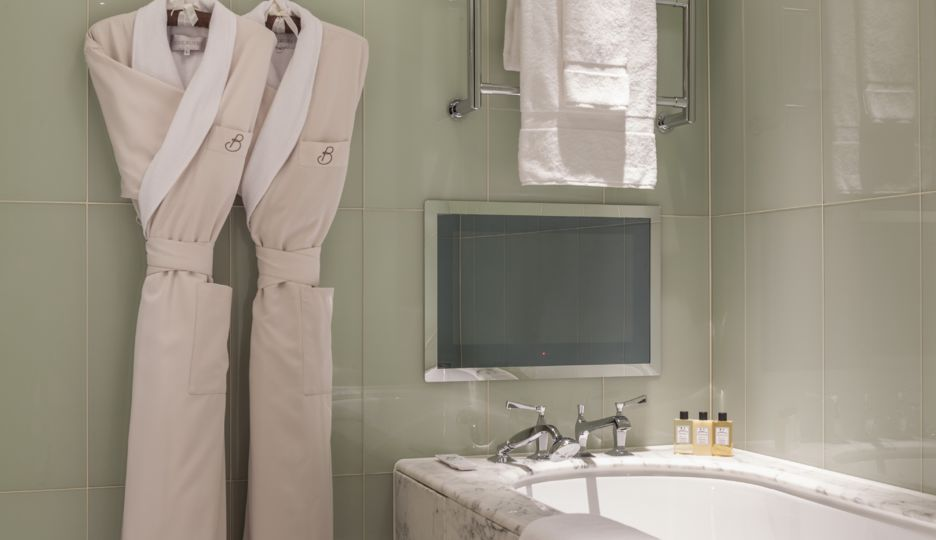 Bathroom in a Classic Suite at The Beaumont Hotel in London