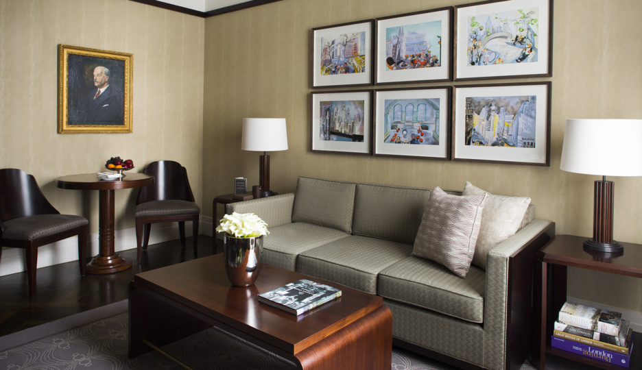 Sitting Room in a Classic Suite at The Beaumont Hotel in London