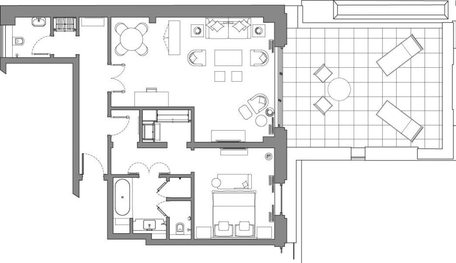 Mayfair Suite floor plan at The Beaumont