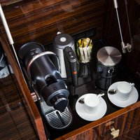 Rooms and suites are equipped with coffee machines and The Wolseley selection tea