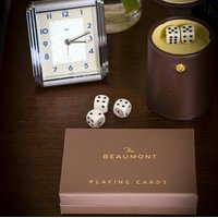 Playing cards & dice at The Beaumont Hotel