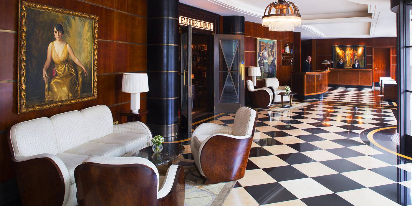 The lobby at The Beaumont Hotel, London