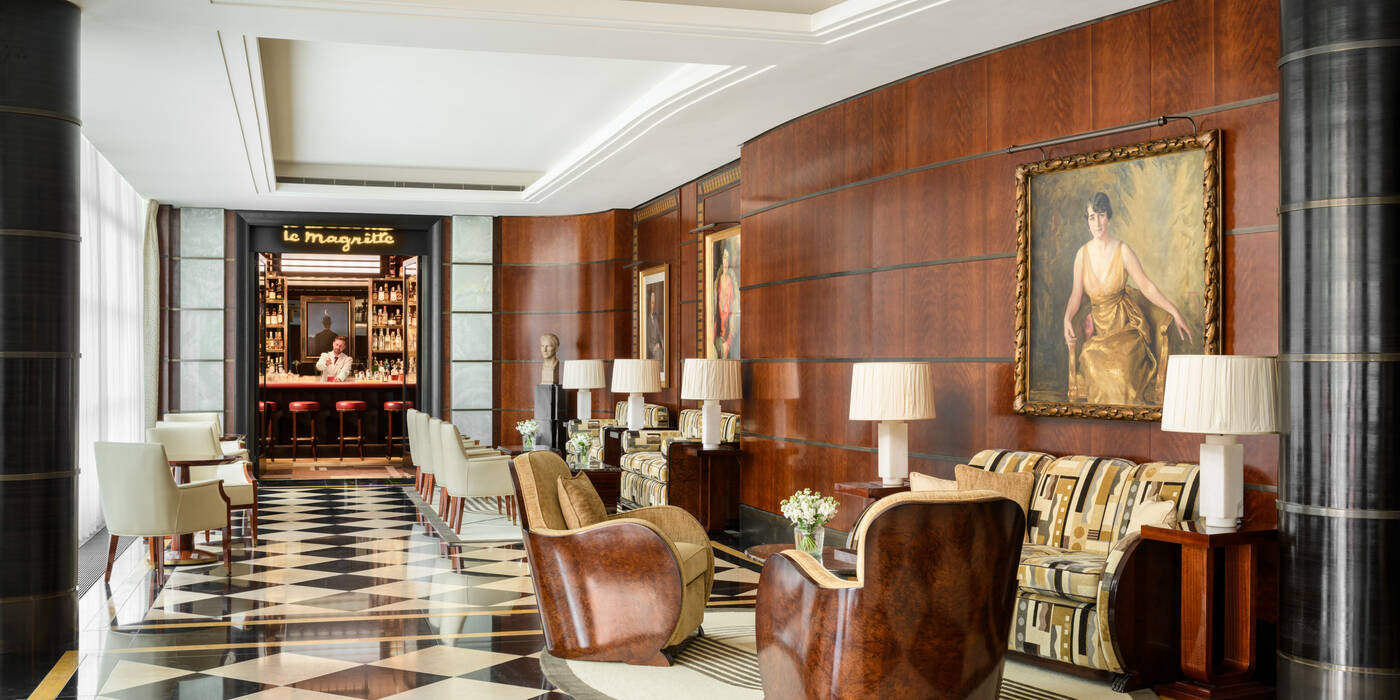 The Lobby at The Beaumont Hotel in London