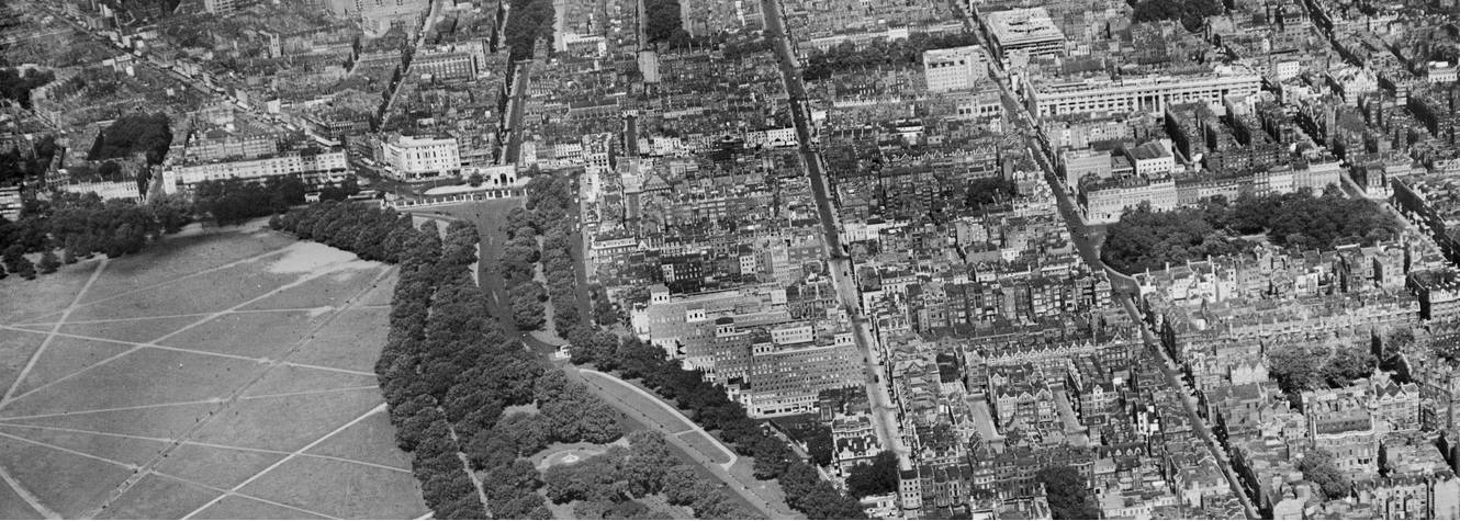 Mayfair aerial view in 1929