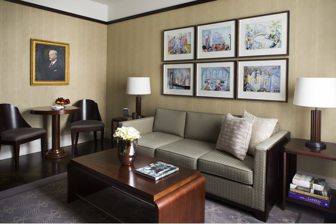 Sitting Room in a Classic Suite at The Beaumont Hotel, London