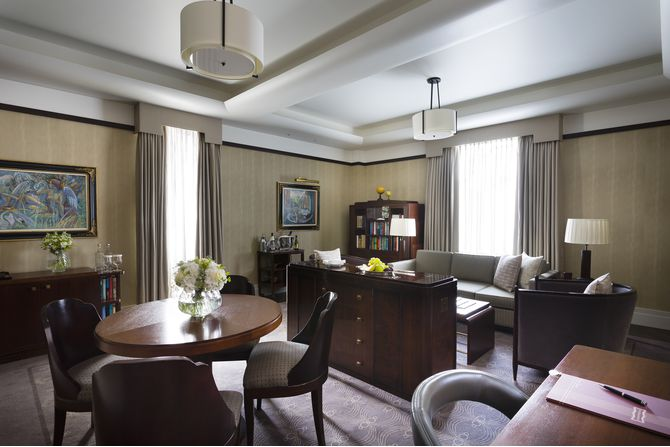Sitting Room in a Mayfair Suite at The Beaumont Hotel in London