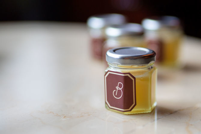 Closed Jar on a table at The Beaumont